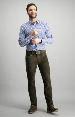 Férfi egyenes szabású hosszú ujjú népviseleti ing Campos3 beere