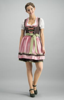 Mini Dirndl 2 részes 50 cm Patty braun rose